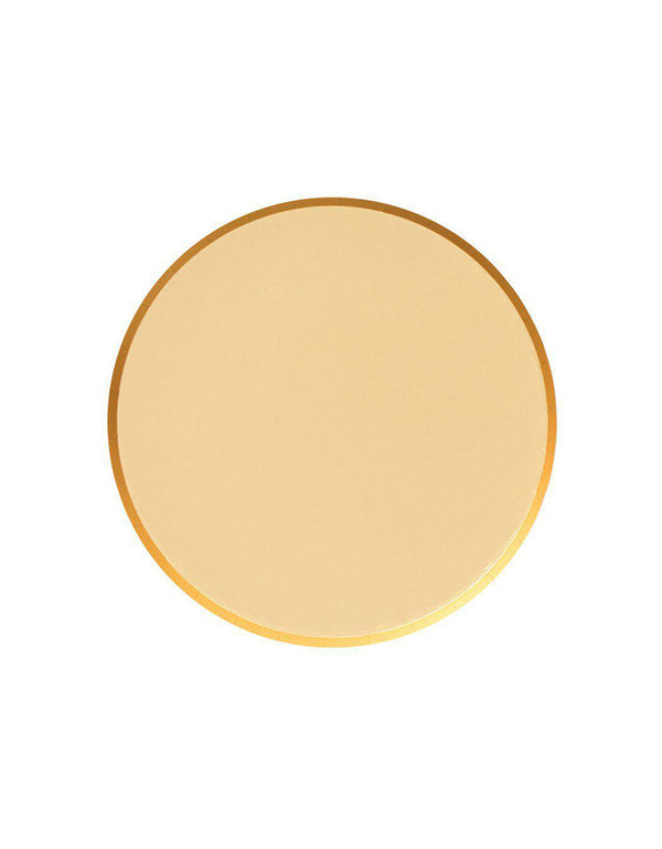OH happy Day 7 inches Small Paper Plates in Gold Color, Featuring delicate low profile rim with a flat base in double sided color. these simply modern and chic Paper cups are eco-friendly, perfect for Birthday party, Kids birthday party, Christmas celebration , modern event, baby shower, Holiday celebration, Summer Party, baby shower, bridal shower and all type of party