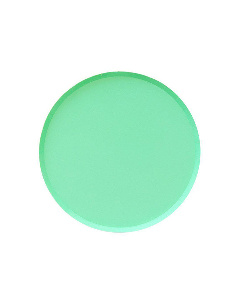 OH happy Day 7 inches Small Paper Plates in Mint Color, Featuring delicate low profile rim with a flat base in double sided color. these simply modern and chic Paper cups are eco-friendly, perfect for Birthday party, Kids birthday party, Spring party, Easter celebration , modern event, baby shower, Holiday celebration, Summer Party, baby shower, bridal shower and all type of party