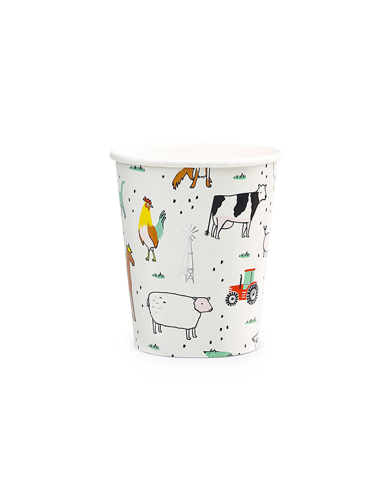 On-The-Farm-Cups_Kids Barnyard Party Supplies