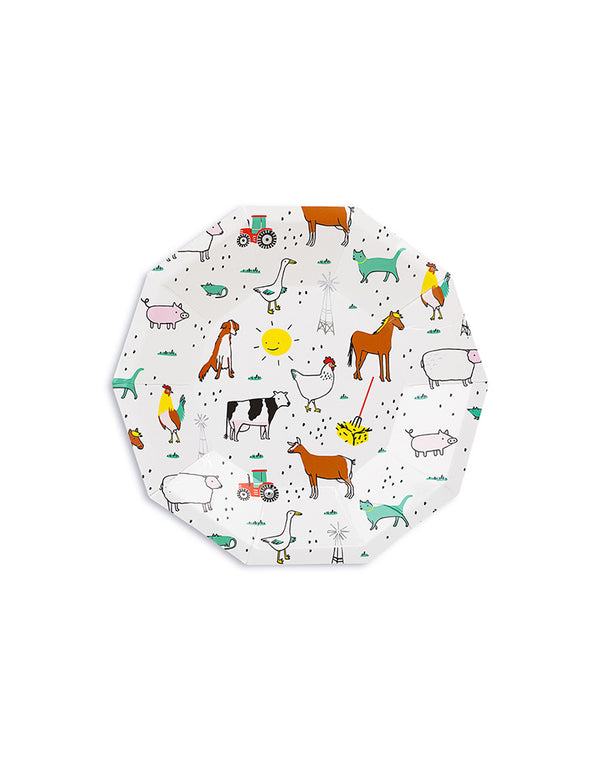 On-The-Farm-Small-Plates_Kids Barnyard Party Supplies