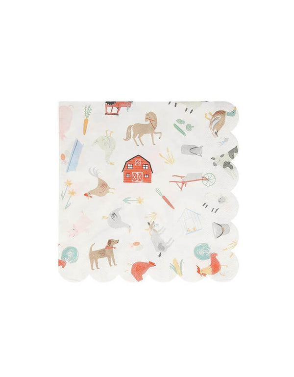On The Farm Large Napkins (Set of 20)