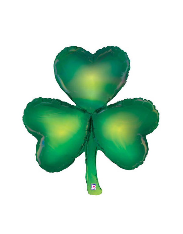 "Betallic 38"" Shamrock Opal Foil Mylar Balloon for St. Patrick's Day celebration"