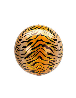 "Anagram 16"" Orbz Animalz Tiger Print Foil Balloon"