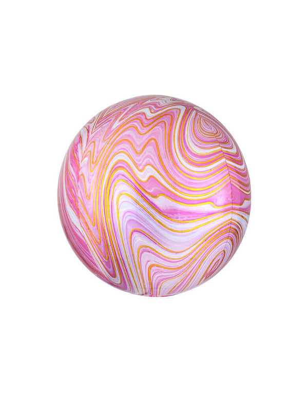 Orbz Pink Marble Foil Balloon