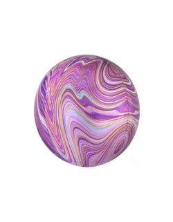 Orbz Purple Marble Foil Balloon