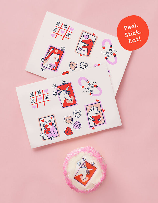 P.S. I Love You Valentine's Edible Decorating Stickers