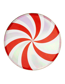 Meri Meri 10.25 inches Peppermint Swirl Large Dinner Plates