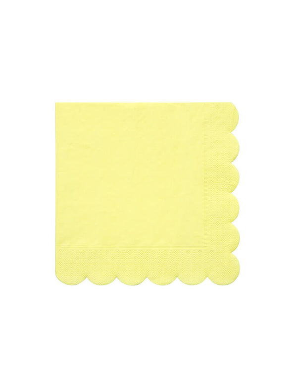Meri Meri Pale Yellow Large Napkins