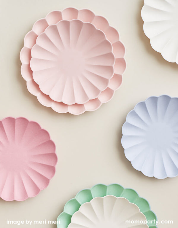 Pale Pink Simply Eco Small Plates (Set of 8)
