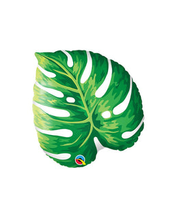 "Qualatex 21"" Palm Leaf Foil Balloon for a tropical themed party in summer"