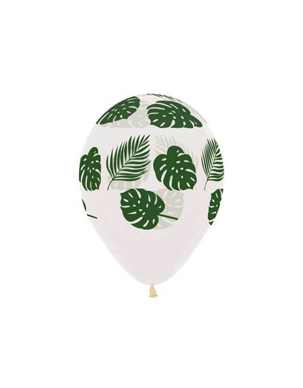"Betallic 11"" Palm Leaf Printed Latex Balloon"