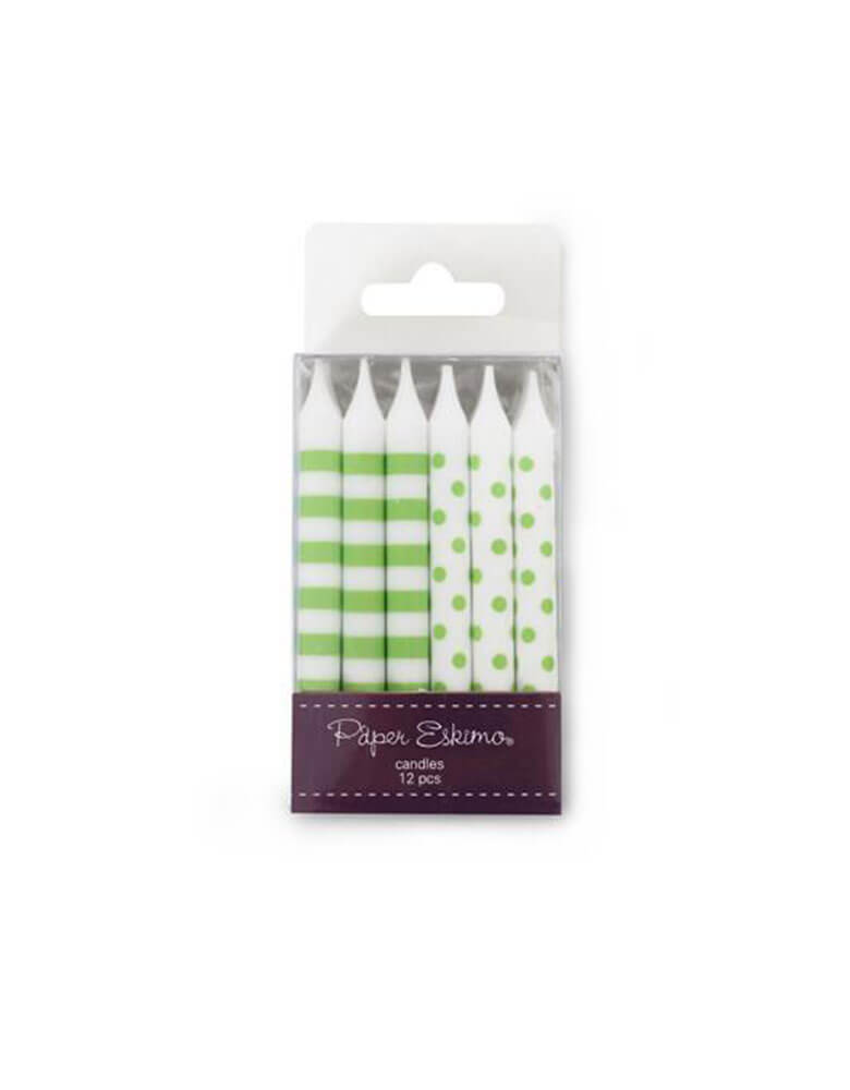 PaperEskimo Birthday Candles Apple Green Floss