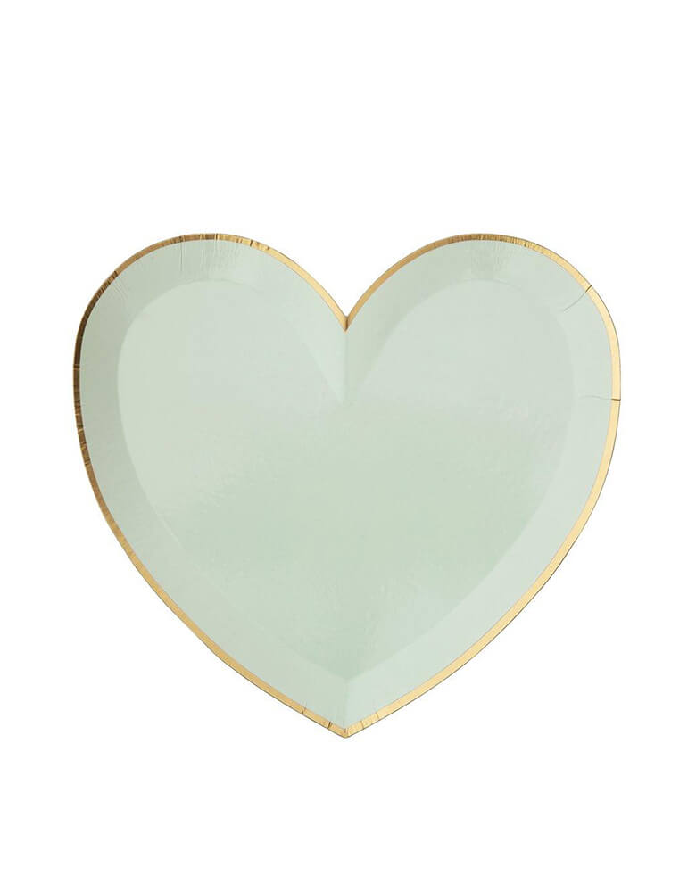 Meri Meri Party-Palette-Heart-Large-Plates in green