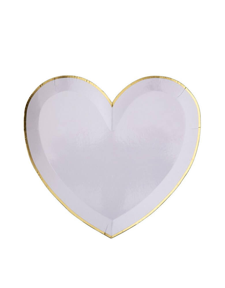 Meri Meri Party-Palette-Heart-Large-Plates in lilac