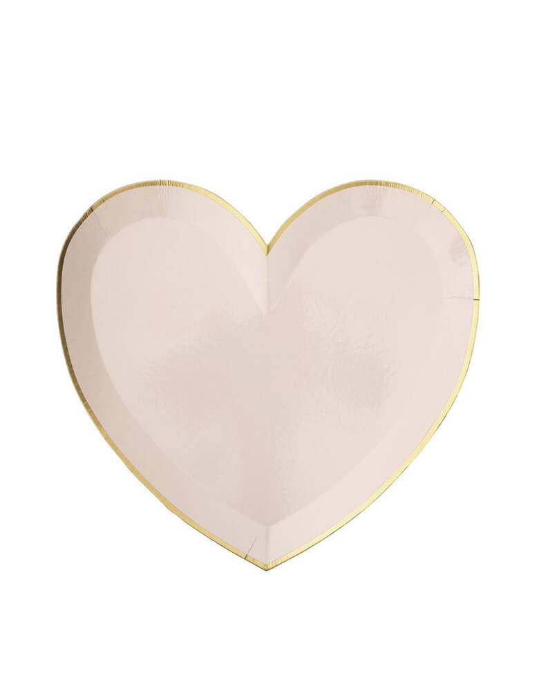 Meri Meri Party-Palette-Heart-Large-Plates in pale pink