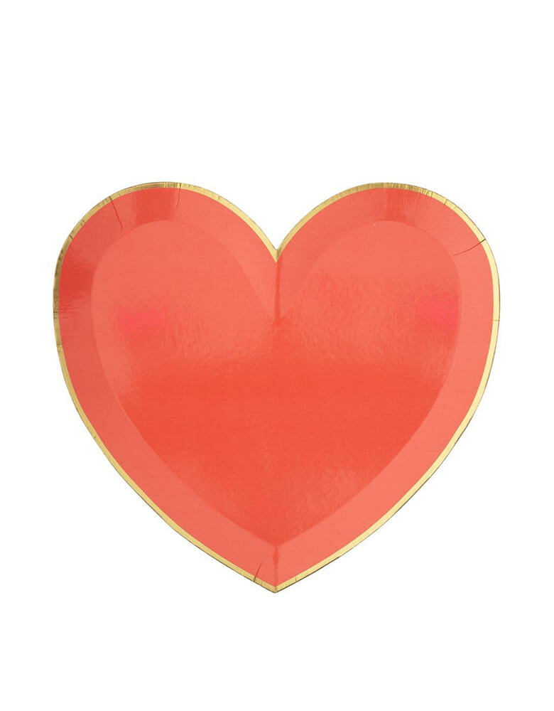Meri Meri Party-Palette-Heart-Large-Plates in red