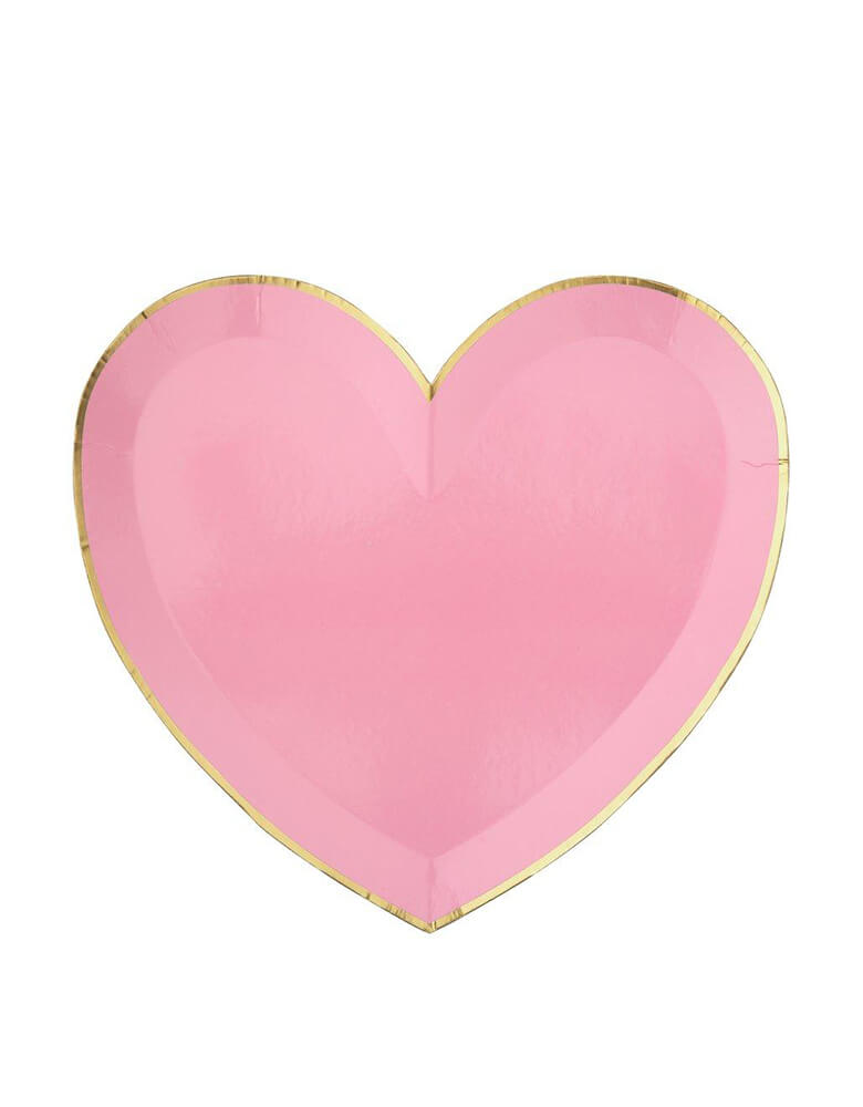 Meri Meri Party-Palette-Heart-Large-Plates in rose