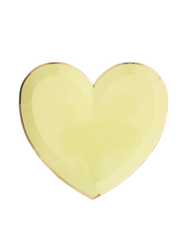 Meri Meri Party-Palette-Heart-Large-Plates in yellow