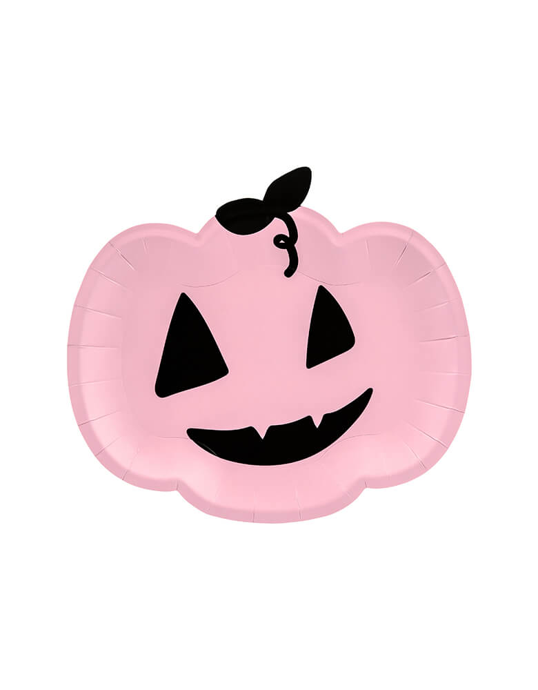 Party Deco Pink Pumpkin Plates for Halloween parties