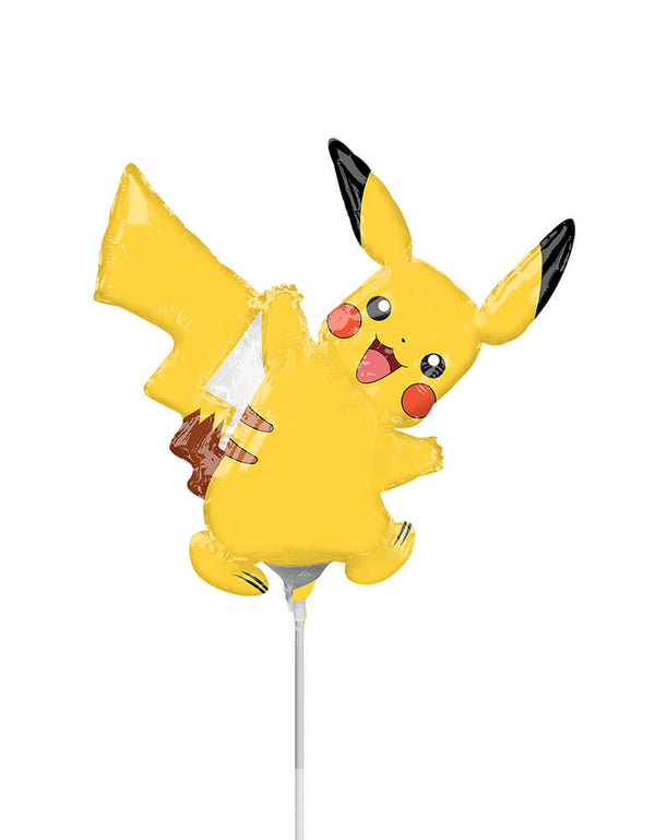 Anagram Balloons - 34604 Pikachu Mini Shape A30. I choose you! Add this cute 14 inches Pikachu mini foil balloon to your Pokemon party. Each balloon comes with a cup and straw to display. A great party favor to send the the little ones home from a Pokemon themed party!