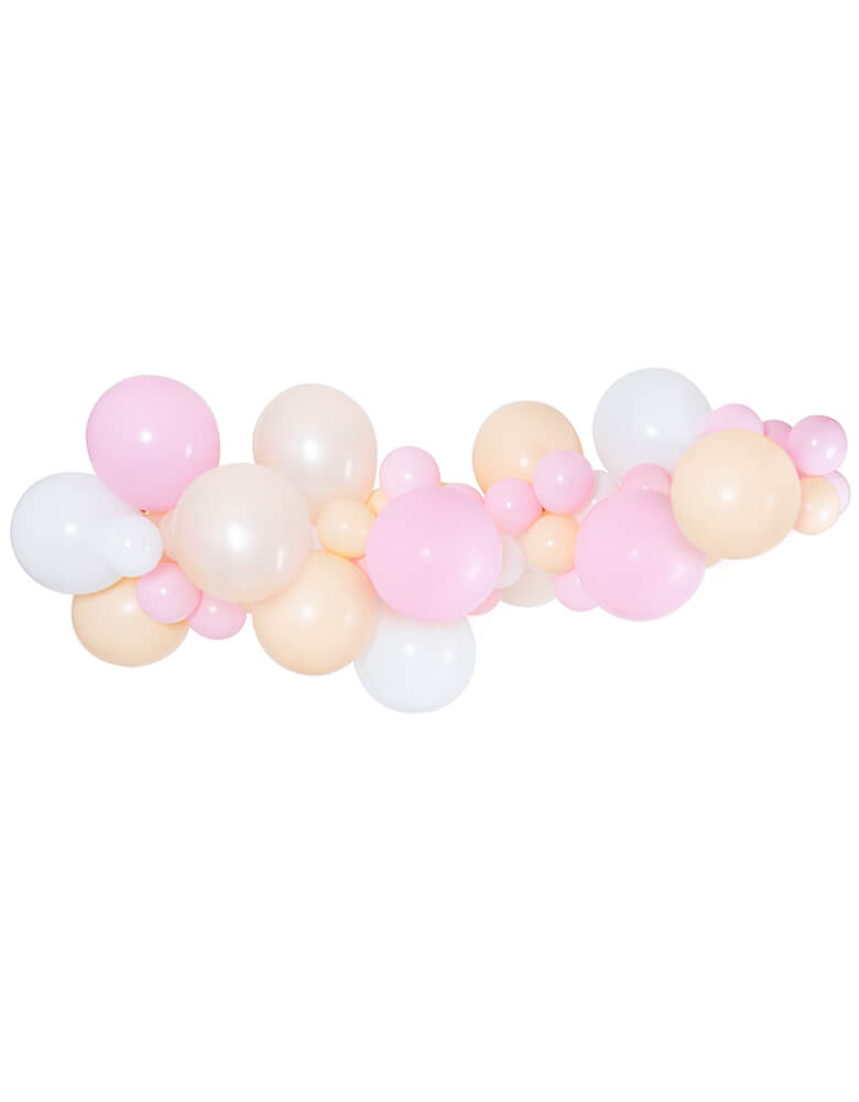 Sweet Princess party white pearl pink blush Balloon garland