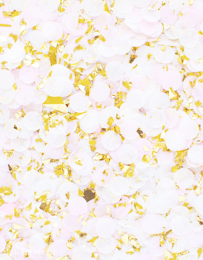Studio Pep Princess-Gold-and-Pink-Artisan-Confetti spread out on a surface
