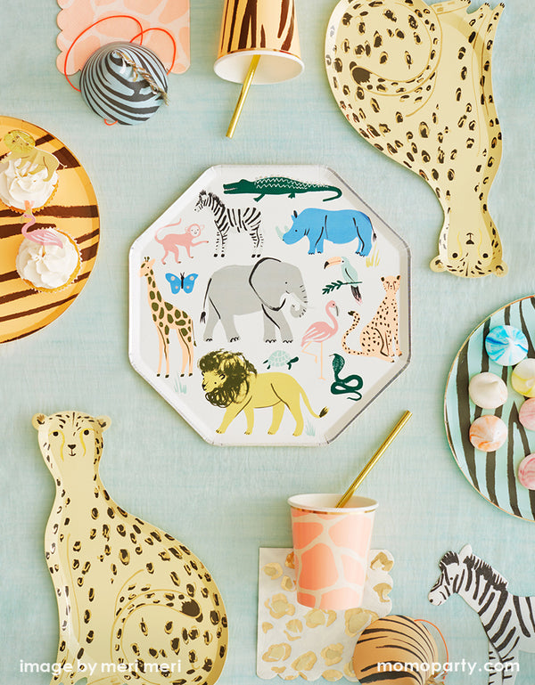 Safari Animals Dinner Plates (Set of 8)