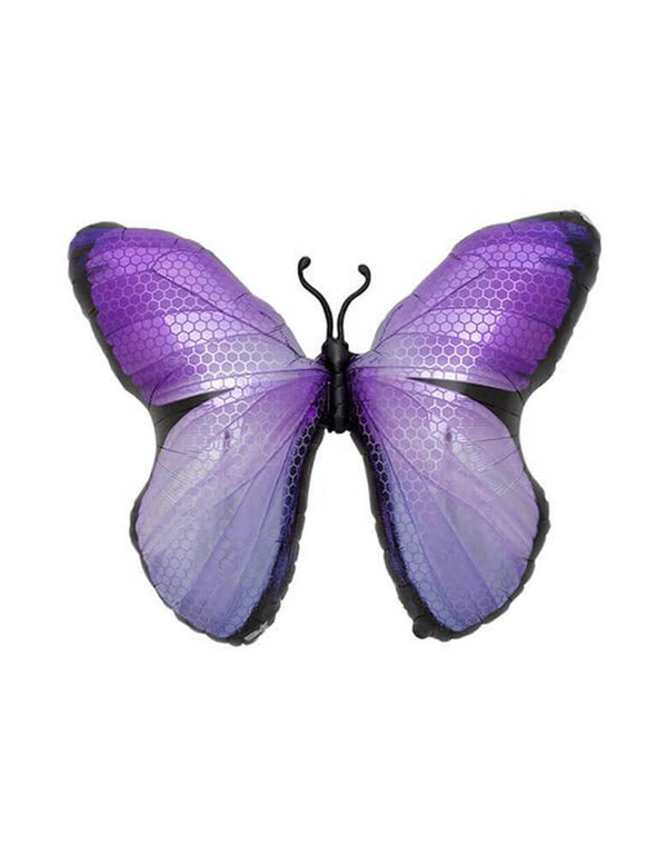 "Northstar 31"" Purple-Monarch-Butterfly-Foil-Mylar-Balloon for girl's butterfly or fairy party"