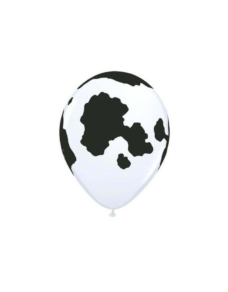 "Qualatex 11"" Cow Print Latex Balloon"