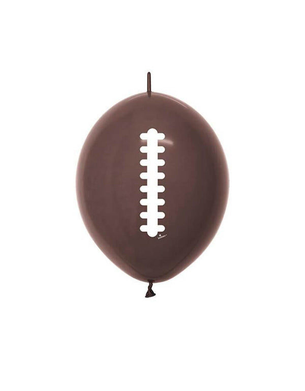 "Qualatex 12"" Football Quick Link Latex Balloon"