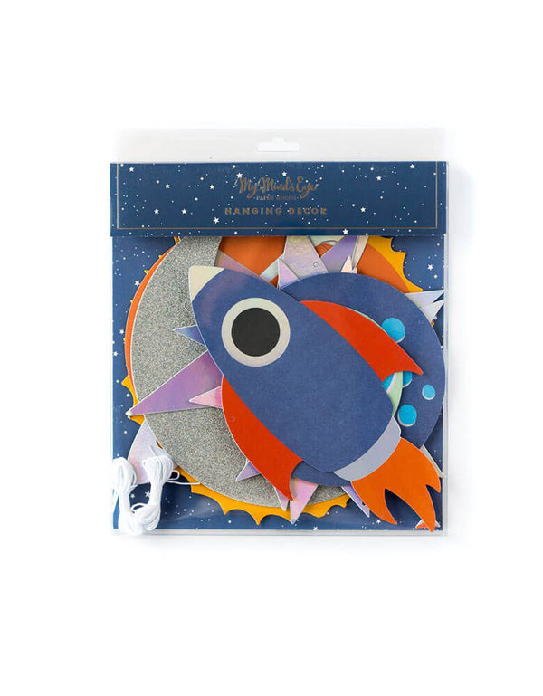 My Mind's Eye Rocket Hanging Decor in Package