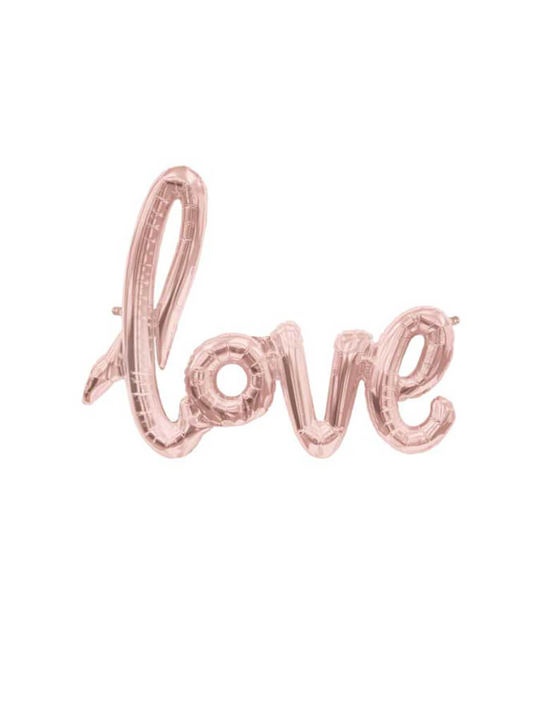 "Northstar 30""x 23"" Rose Gold Love Script Foil Balloon"