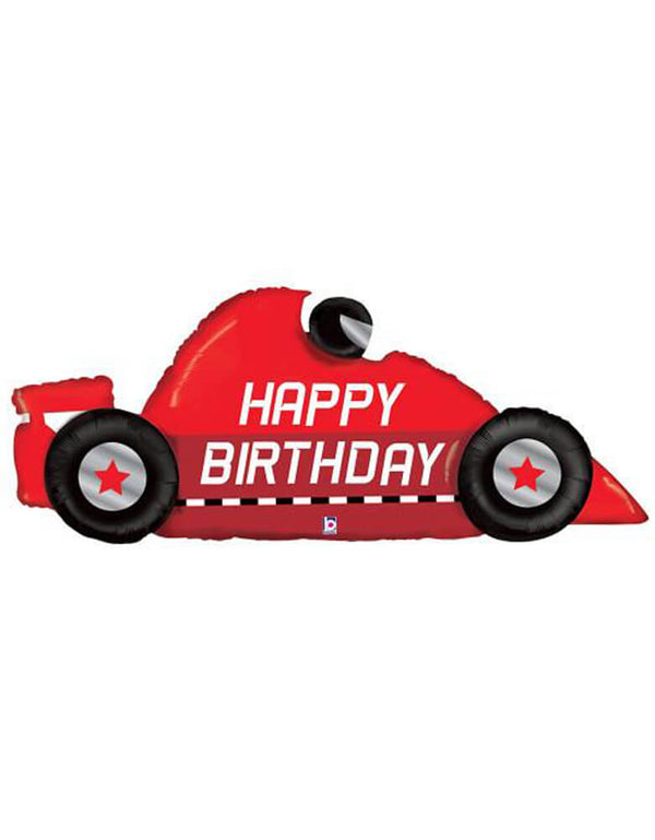 Betallic Balloon 43 inch Race Car Birthday Foil Balloon.Accent your little one's race car birthday party with this awesome car shaped foil mylar balloon.