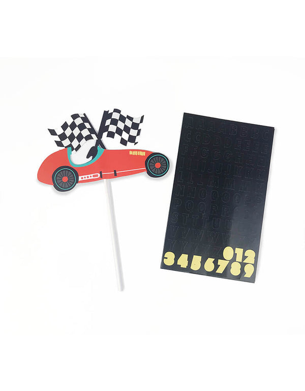 Merrilulu Custom Race Car Cake Topper