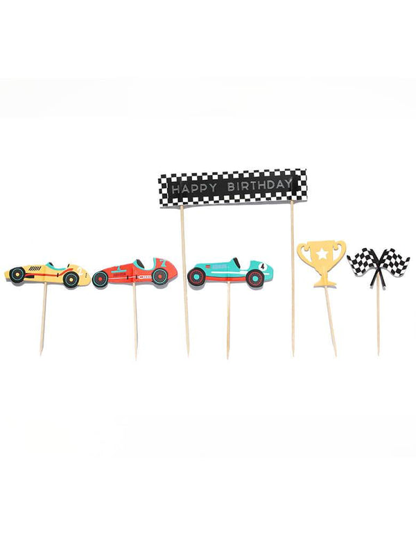 Merrilulu Race Car Cupcake Toppers