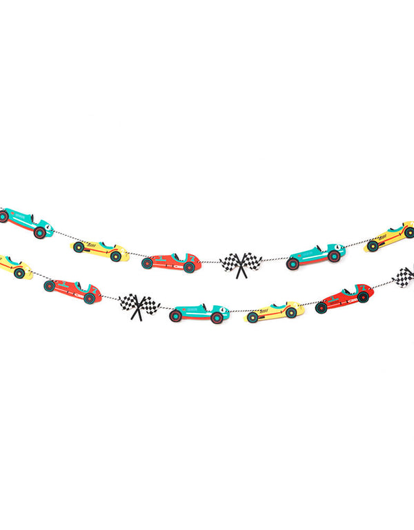 Merrilulu Race Car Garland Set