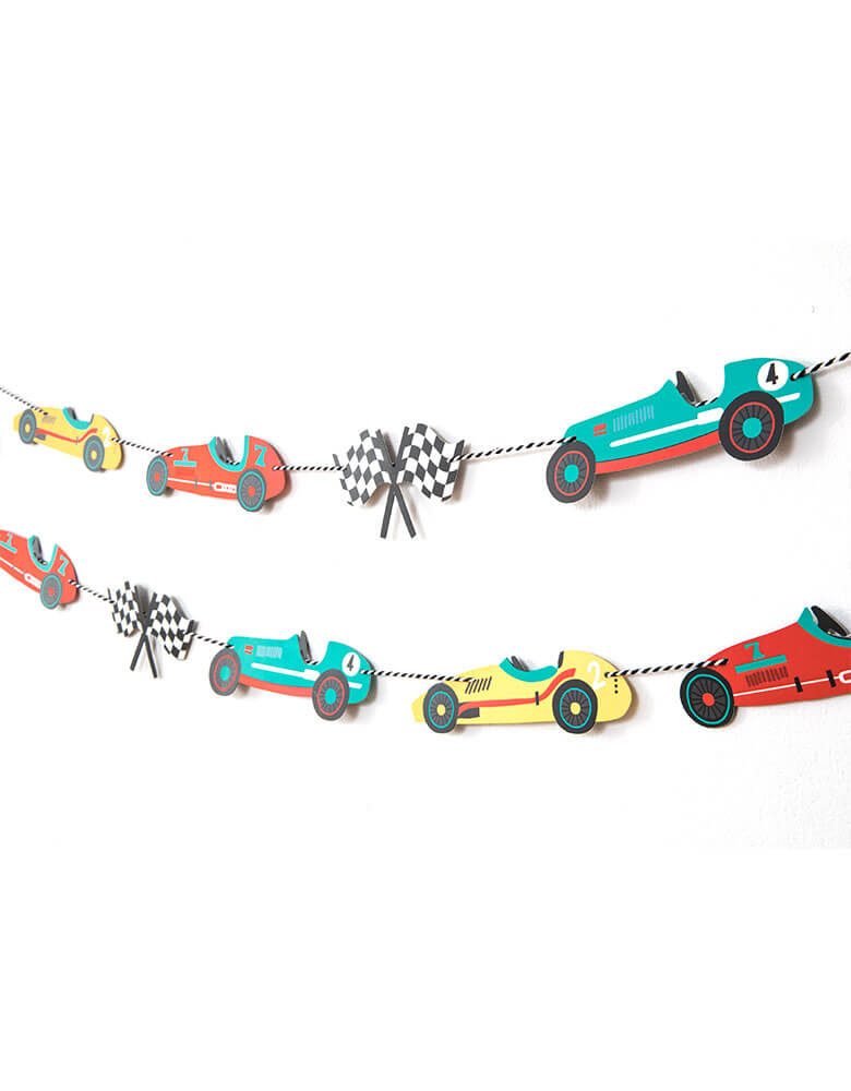 Merrilulu Race Car Garland Set for a vintage race car party