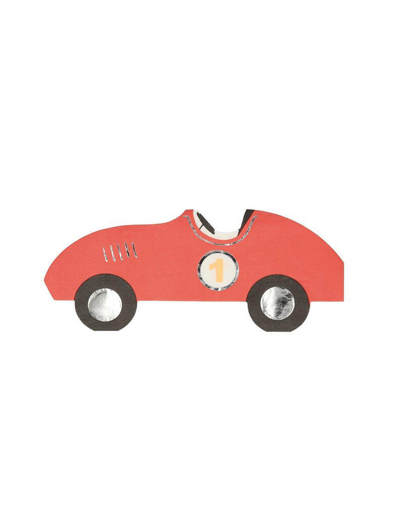 Meri Meri Vintage Race Car Napkin in Red