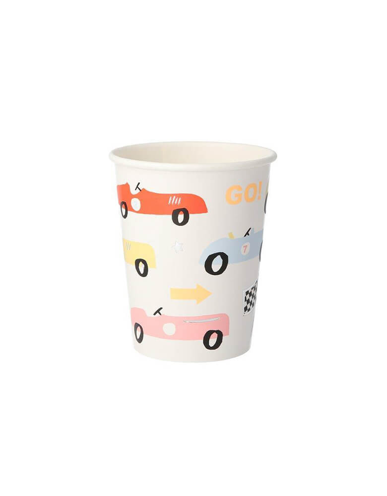 Meri Meri 9 oz Vintage Race Car Party Cups