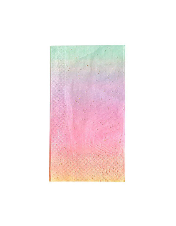 Oh Happy Day Rainbow Ombre 7 3/4  x 4 3/8Dinner Napkins