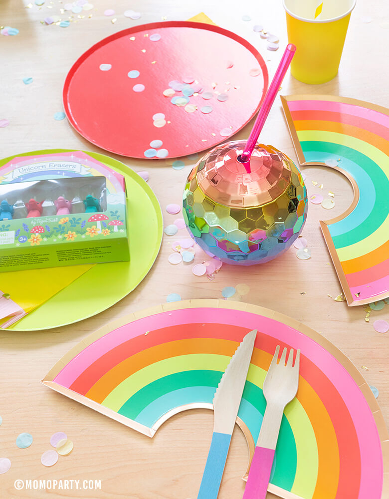 Rainbow Plates (Set of 8)