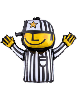 Anagram 32 inches Football Referee Shaped Foil Mylar Balloon for your Super Bowl party, tailgate party, sport themed party or any football themed party