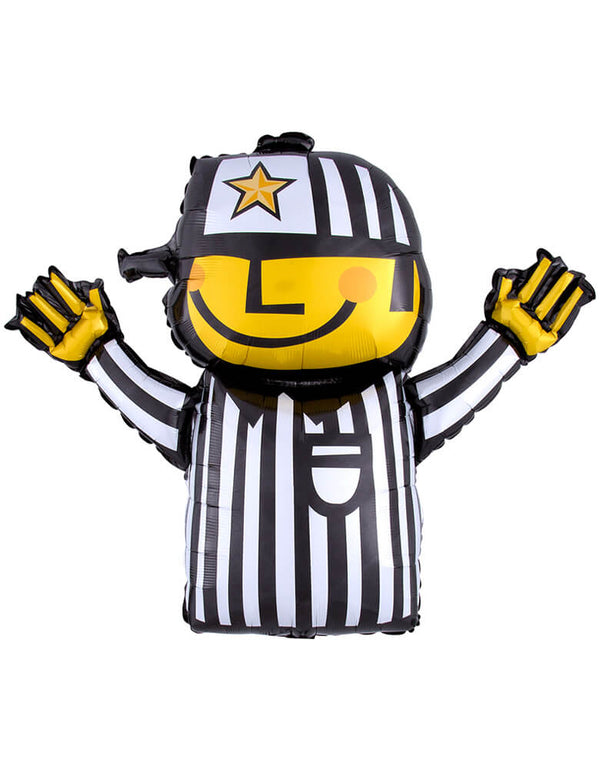 Anagram 32 inches Football Referee Shaped Foil Mylar Balloon for your Super Bowl, tailgate, or any football themed party
