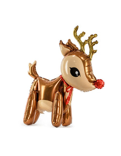 "Party Deco 24"" Reindeer Foil Mylar Balloon"