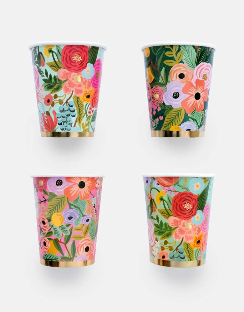 Rifle-Paper_Garden-Party-Cups_Set with 4 design
