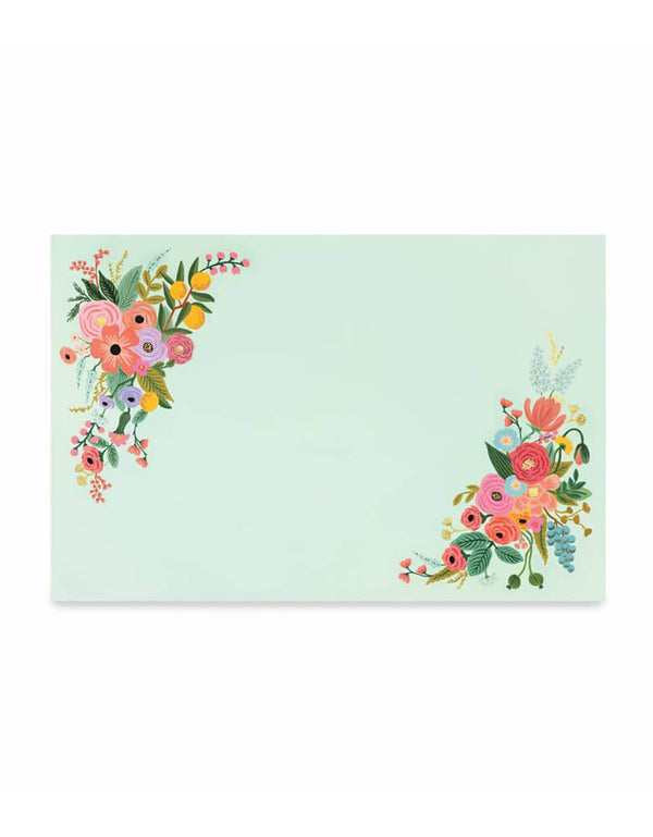 Rifle-Paper_Garden-Party-mint paper Placemats