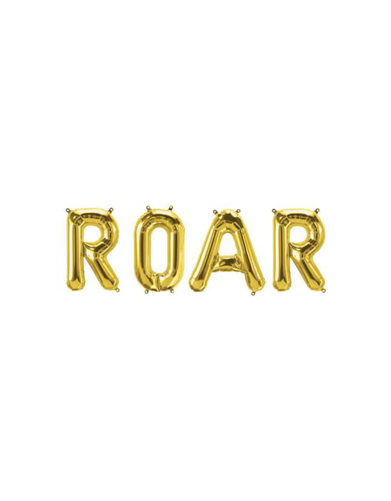 Roar Foil Mylar Balloon Set_Kids Dinosaur Theme Birthday Party Ideas