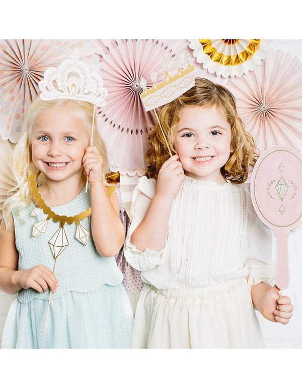 2 Girls holding Crown Photo Props