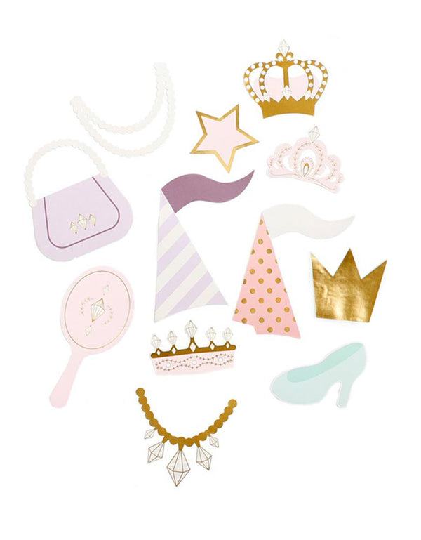 Tiara, Crown, mirror, necklace, Bag and Heel Princess Photo Props
