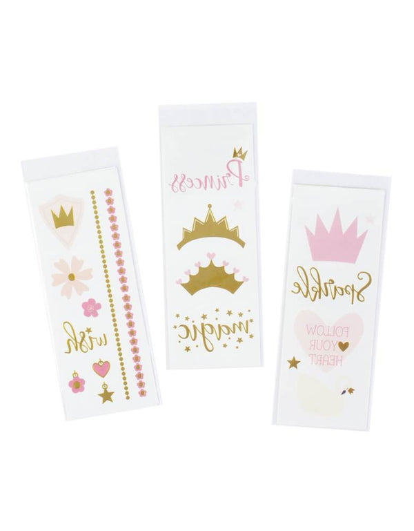 My Minds Eye's Princess Temporary Tattoos with 40 tattoo designs, prefect party activities, party favor, good bags for princess party celebration